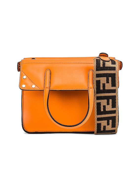 Mini Flip Crossbody Bag in Orange