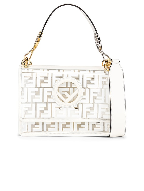 Kan I Logo Crossbody Bag in White