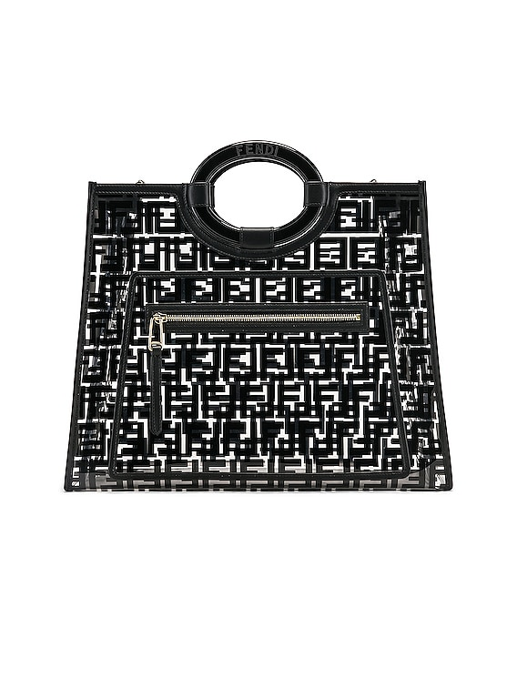 Runaway Shopping Logo Tote in Black