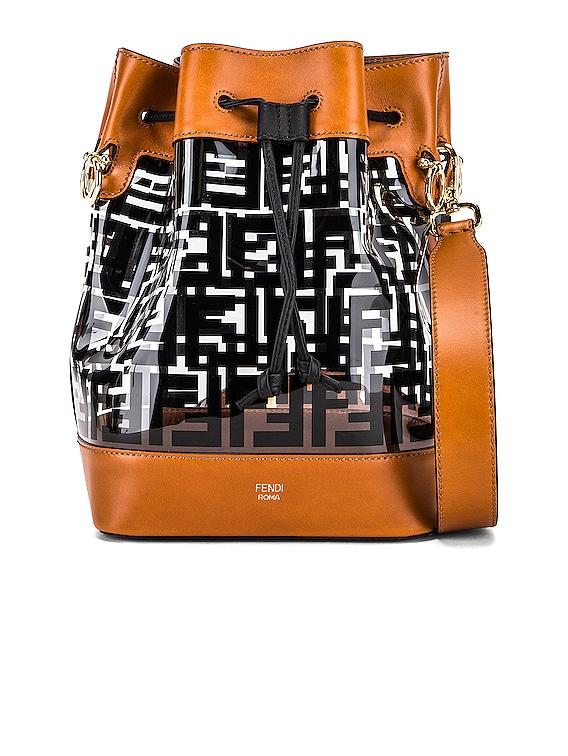 Mon Tresor Logo Crossbody Bag in Black & Brown