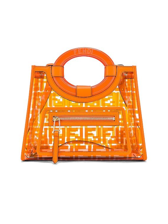 Mini Runaway Shopping Logo Tote in Orange