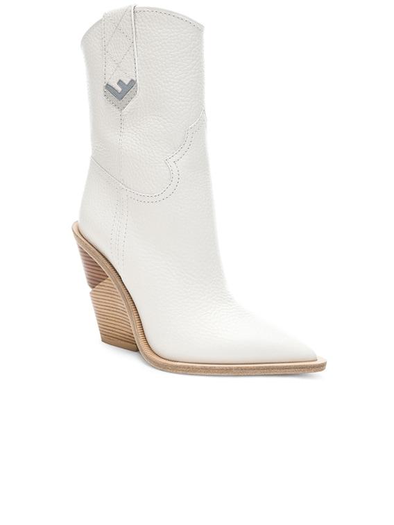 Fendi Cutwalk Western Boots in White | FWRD