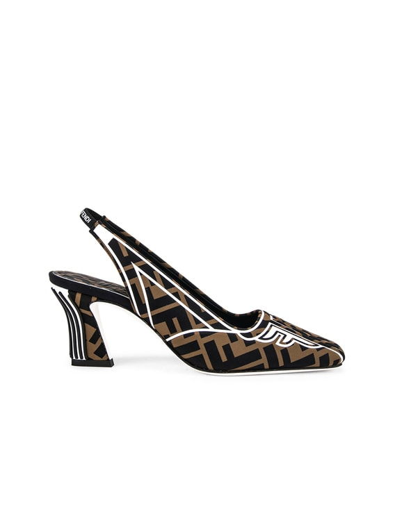 FFreedom Slingback Heel in Black & Brown