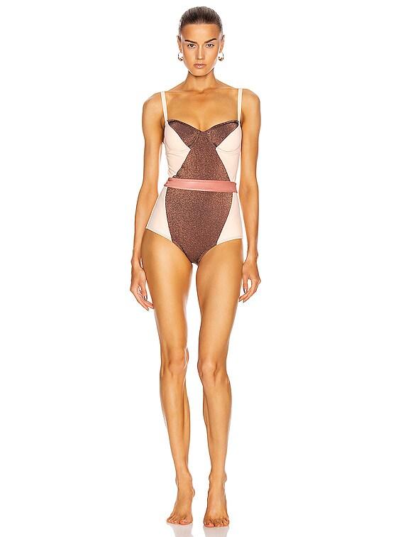 Babe Swimsuit in Bronze, Morganite & Rosegold