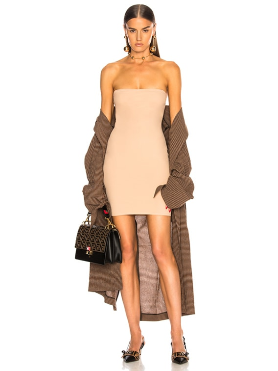 for FWRD Strapless Bodycon Slip in Nude