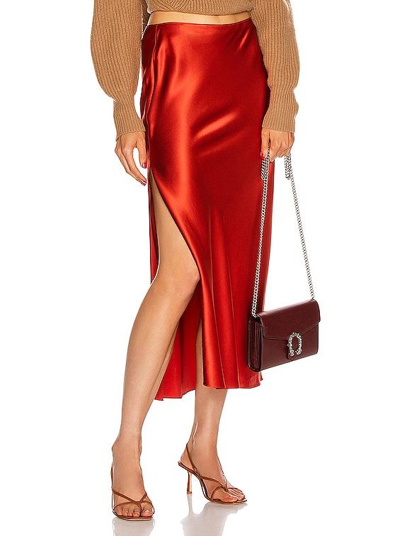 Slip Skirt in Sienna