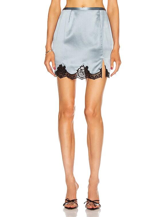 James Lace Skirt in Steel & Black