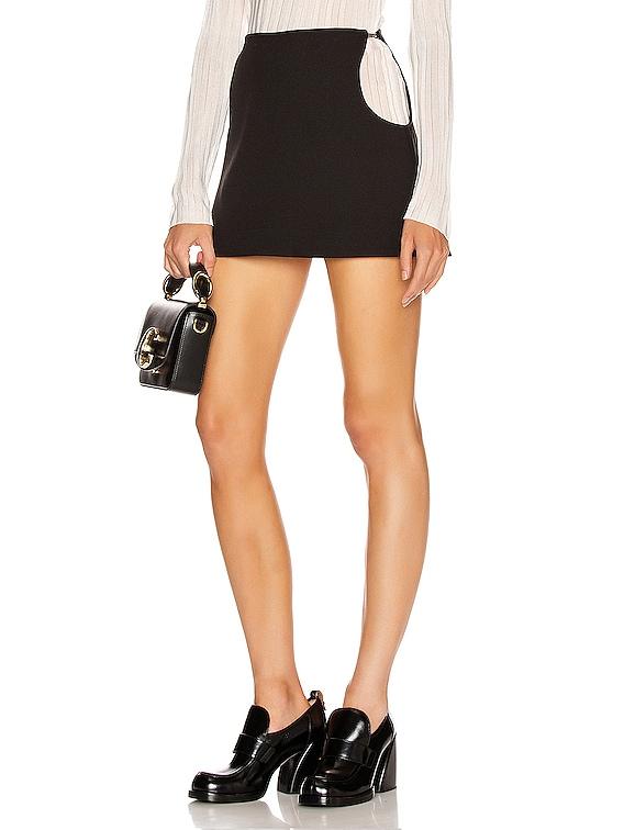 Mia Mini Skirt in Black