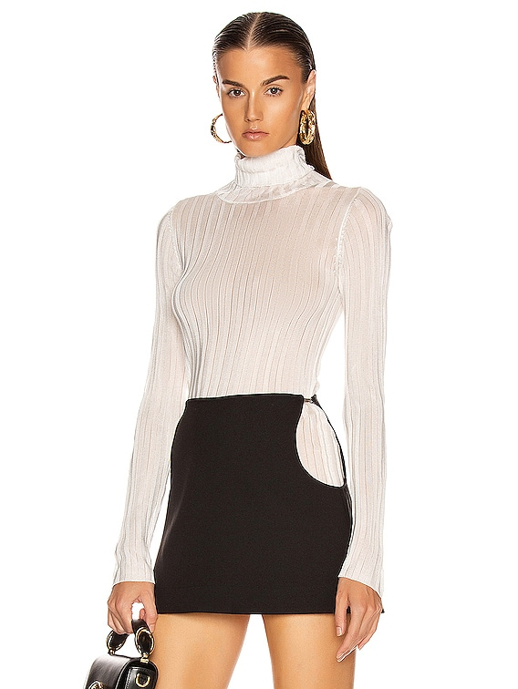 Lola Roll Knit Top in Ivory