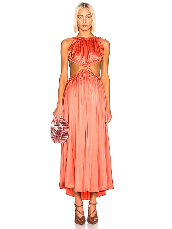 Theia Dress in Melon