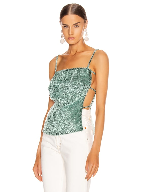 Simone Top in Seafoam