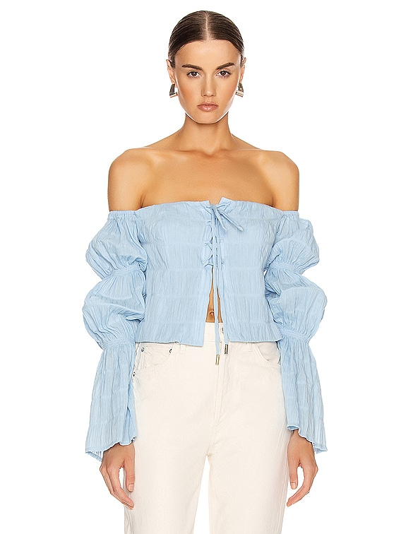 Claire Top in Bluebell