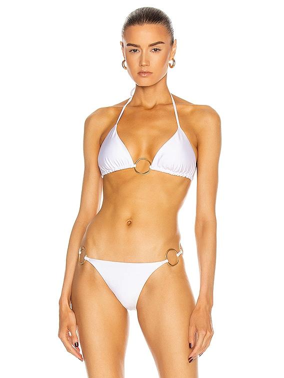 Claudia Bikini Top in White
