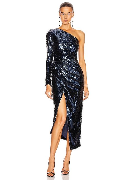 Mirrored Mamounia Dress in Midnight