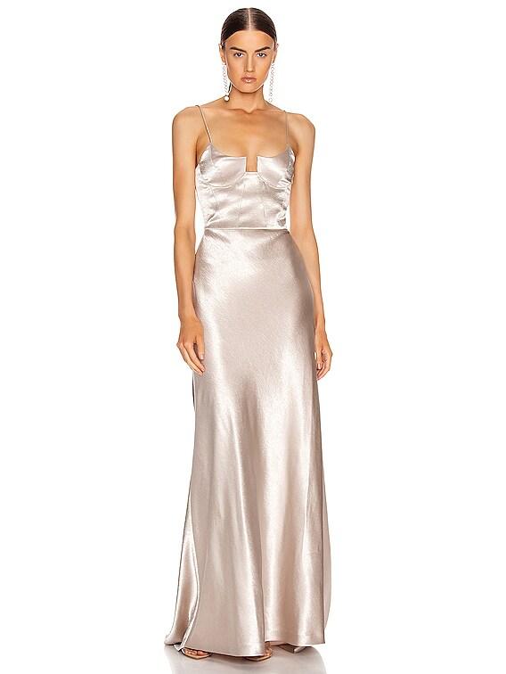 Phoebe Bustier Dress in Platinum