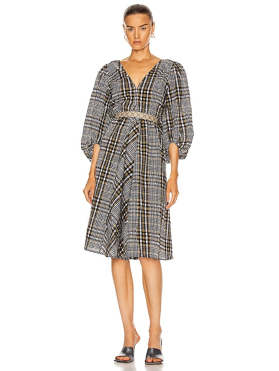 Seersucker Check Dress in Kalamata