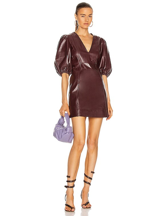 Lamb Leather Dress in Port Royale