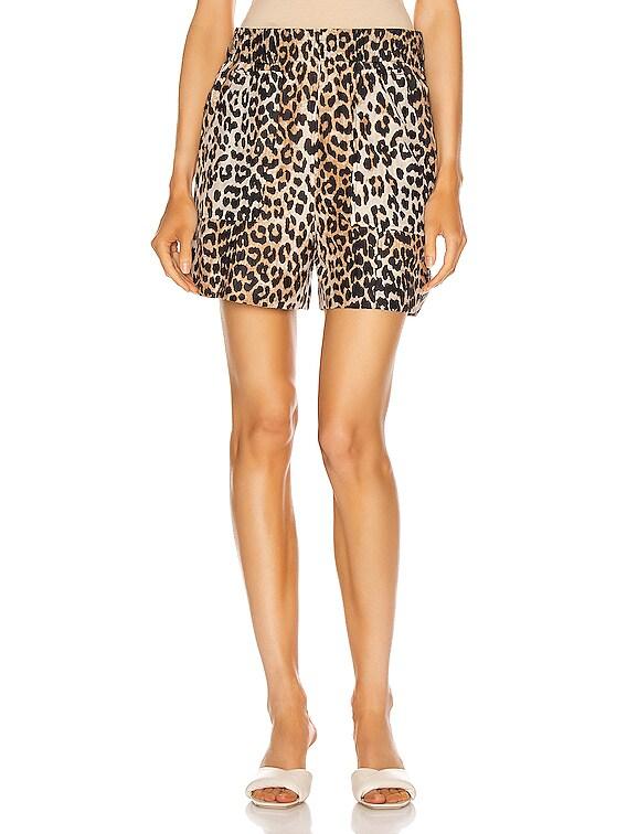 Cotton Silk Short in Leopard