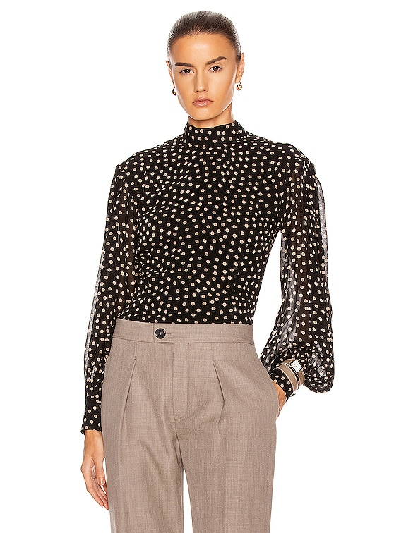 Printed Georgette Top in Black