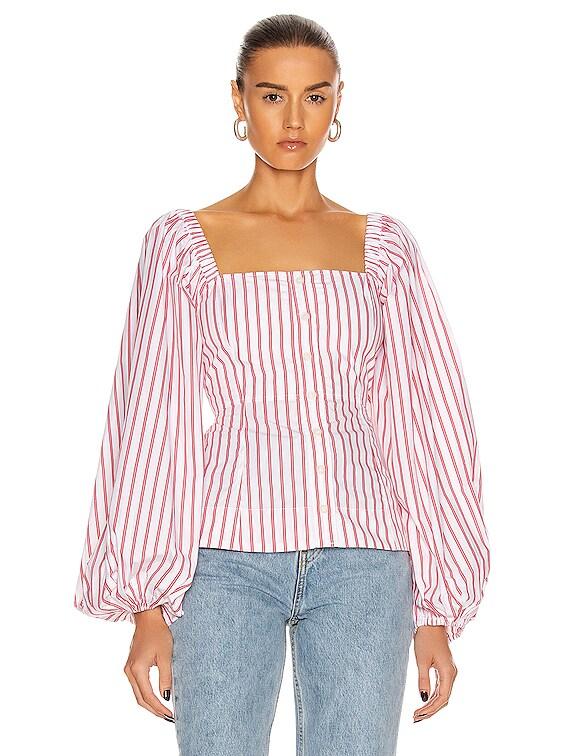 Stripe Cotton Top in Lollipop