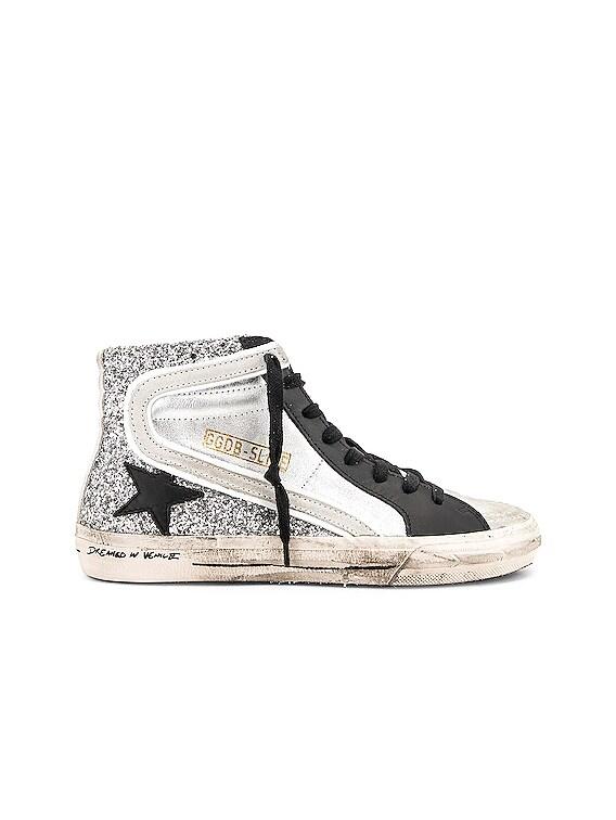 Golden Goose Slide Sneakers in Silver