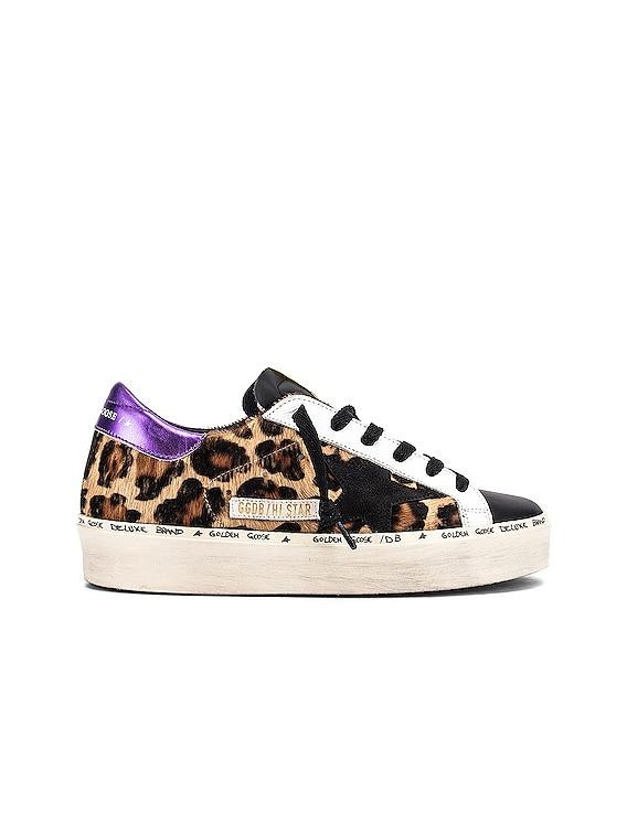Hi Star Sneaker in Snow Leopard, Purple & White
