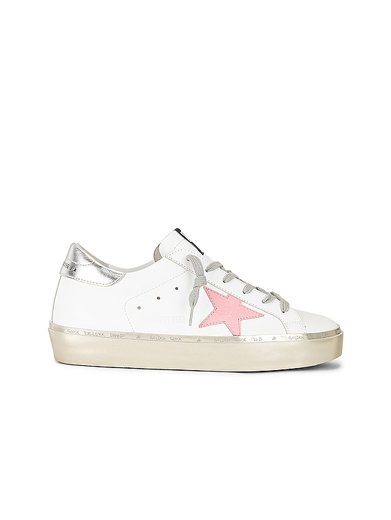 Hi Star Sneaker in White, Pink Pastel, Silver & Gold