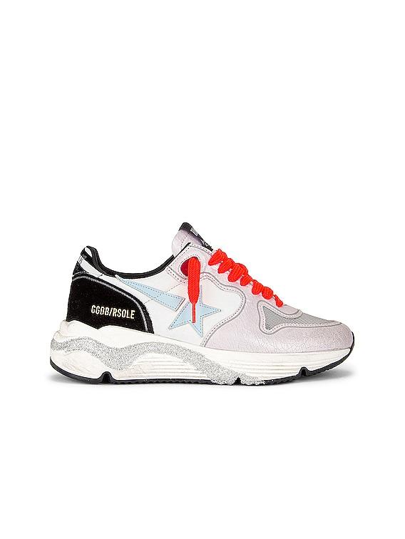 Running Sole Sneaker in White, Lavender, Titan, Aquamarine & Black