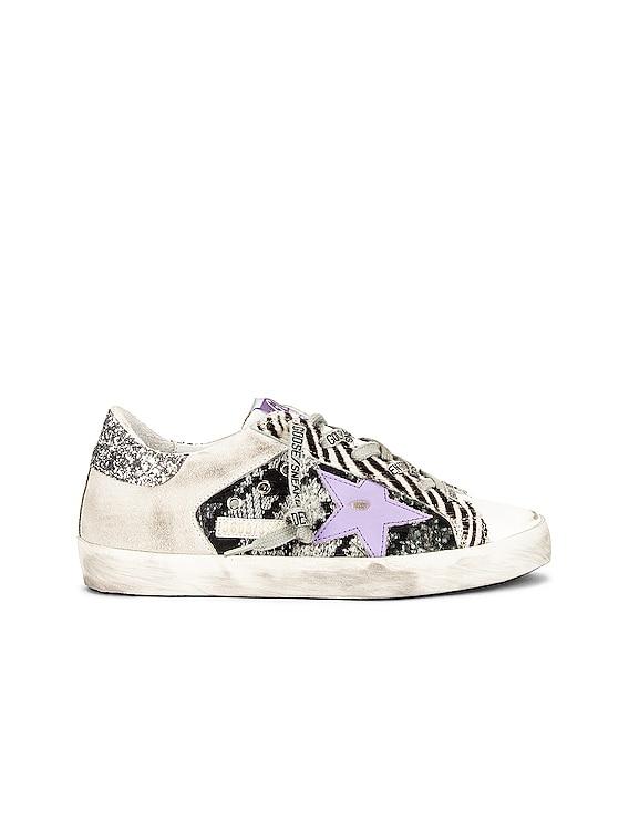 Superstar Sneaker in White, Black Gray, Ice & Violet