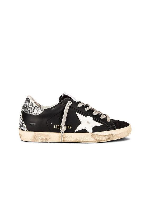 Superstar Sneaker in Black, White & Silver