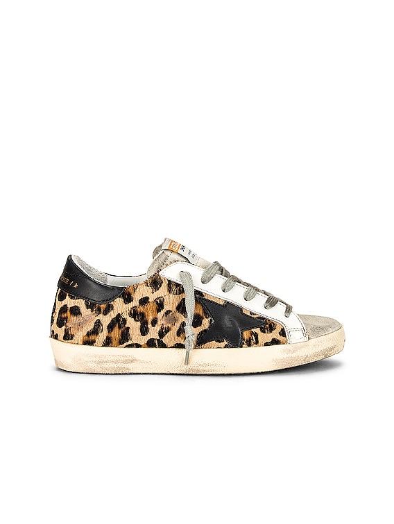 Superstar Sneaker in Beige Brown Leopard, Ice & Black