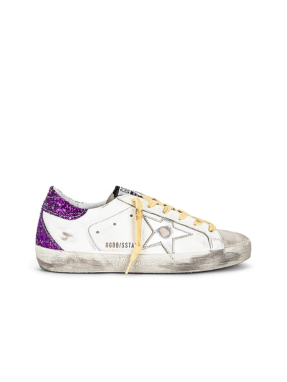 Superstar Sneaker in White, Ice, Silver & Purple