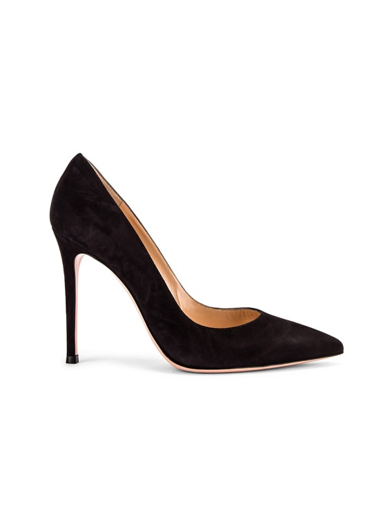 Suede Gianvito Pumps in Black
