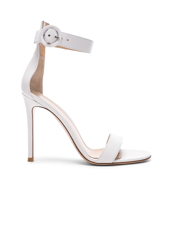 Leather Portofino Heels in White
