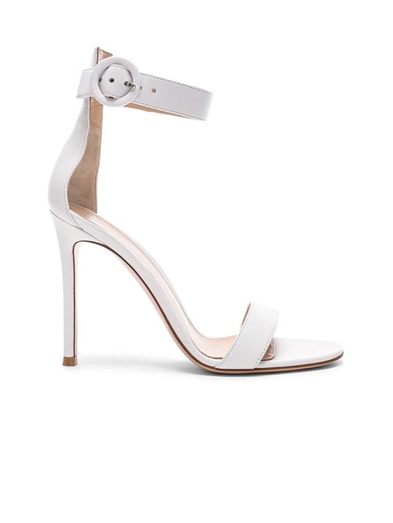 Leather Portofino Heels in White