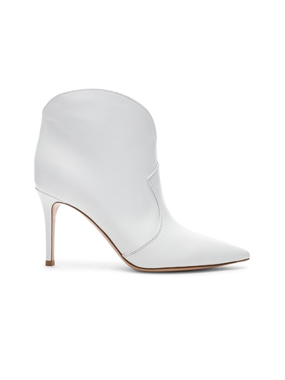 Mable Mid Booties in White