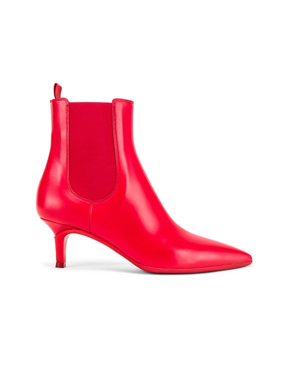 Ankle Bootie in Tabasco Red