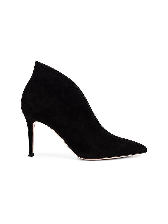 Open Bootie Heels in Black