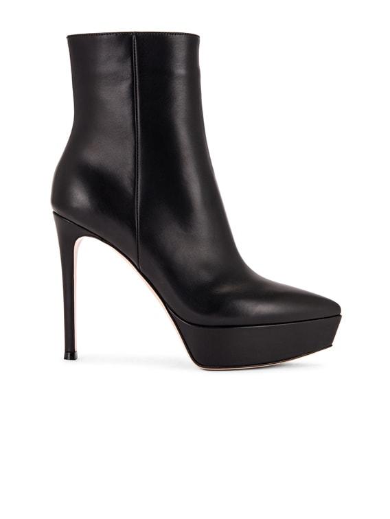 Platform Ankle Booties in Black