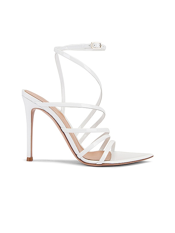 Strappy Heels in White