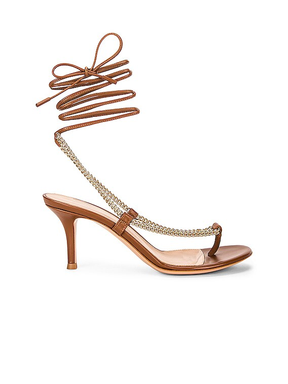 Chain Tie Sandals in Cuoio