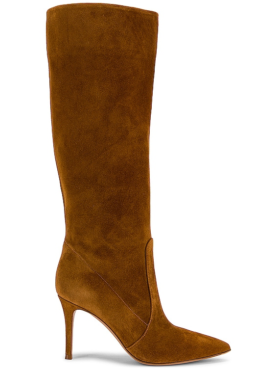 Suede Boots in Almond
