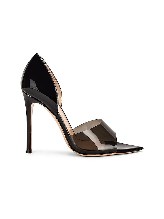 Pointed Toe Pumps in Fume & Black