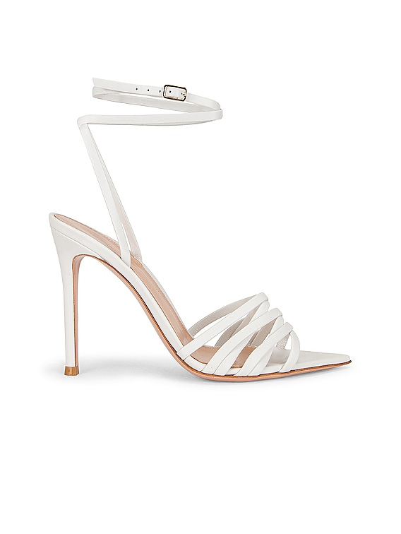 Ankle Strap Sandals in White