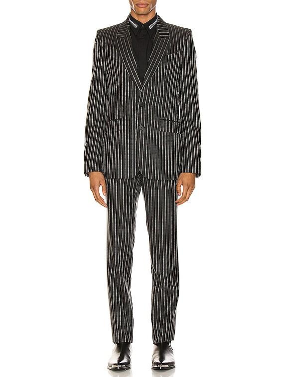 Blazer & Trouser Suit in Black & White