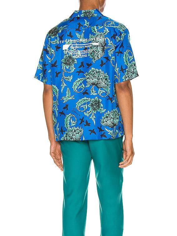Hawaii Shirt in Electric Blue & Mint Green