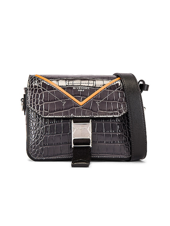 Cross Body Bag in Grey & Orange