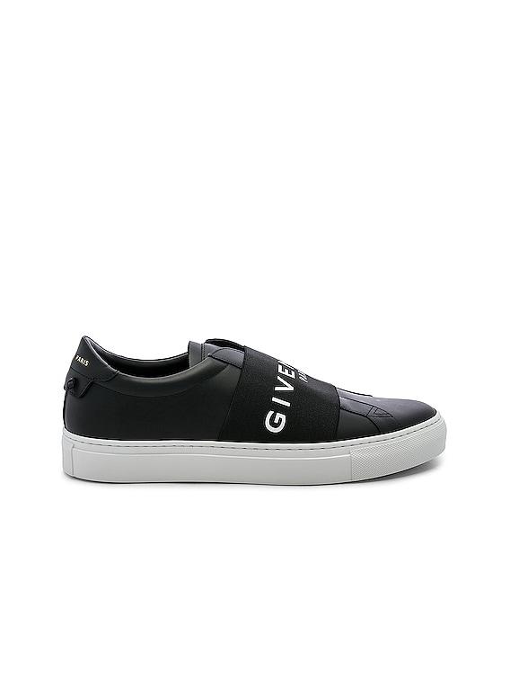 Urban Street Elastic Sneakers in Black & White