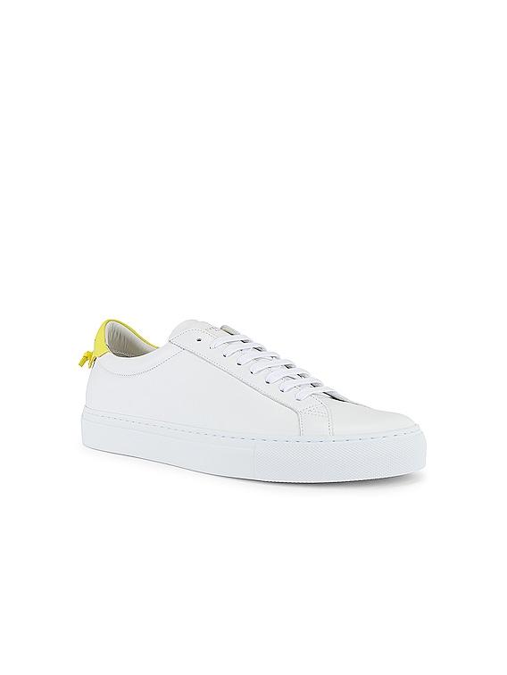 Urban Street Low Sneaker in White & Yellow