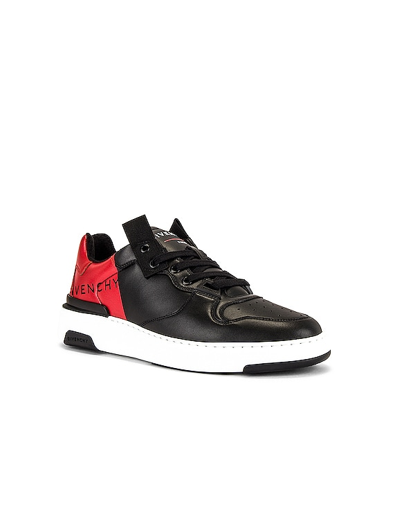 Givenchy Print Low Top Wing Sneaker in Black & Red